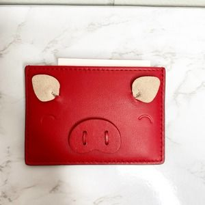 NWT Kate Spade Year of the Pig Card Holder